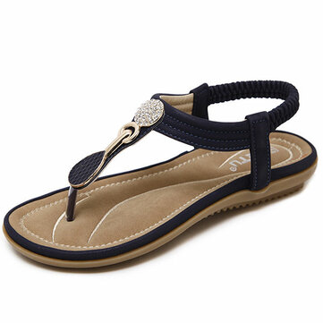 US Size 5-11 Women Casual Soft Sole Beach Outdoor Flat Sandals