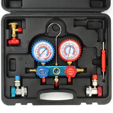 ट्यूब के साथ 0-800 एमपीए कार रेफ्रिजरेंट मैनिफोल्ड गेज सेट कार एयर कंडीशनिंग कूलिंग उपकरण उपकरण