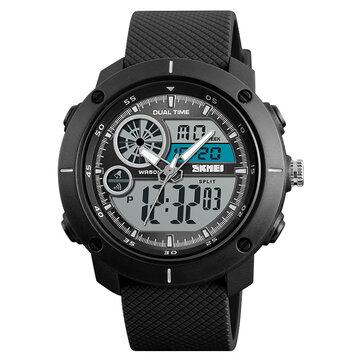 SKMEI 1361 Reloj digital con cronógrafo alarma Dual Pantalla Reloj digital con cuarzo para hombre