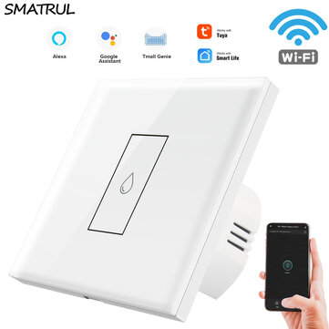 SMATRUL 86 Type WIFI Water Heater Switch Touch Switch Zero Fire Tuya APP Timing Wifi Switch Remote Control Household Water Heater Switch
