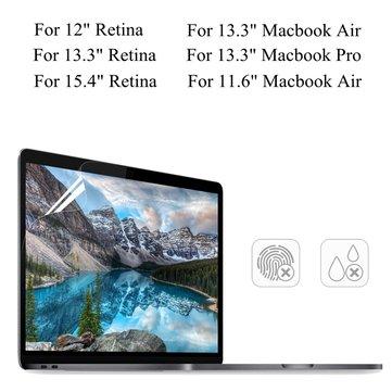 """PET klar gjennomsiktig anti-glare skjermbeskytter for Macbook Air 11,6 """"/ 13,3"""" Pro 13,3 """"retina 13,3"""" /15,4 """""""