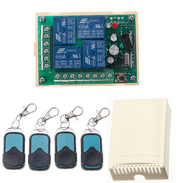 HCS301 433MHz Rolling Code Remote Control Switch Wireless Power Supply Relay Receiver Module