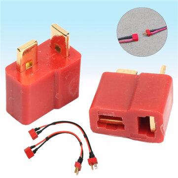 Excellway® DC 012 20pcs T Plug Male & Female Connectors Deans Style For RC LiPo Battery