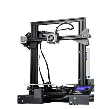 Creality 3D® Ender-3 Pro Kit d'imprimante 3D bricolage Taille d'impression 220x220x250mm avec autocollant de plate-forme amovible magnétique / Fonction de reprise d'alimentation / Impression hors ligne / Brevet MK10 Extrudeuse / Mise à nive