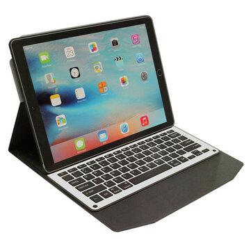 "Undetachable Aluminum Alloy bluetooth 3.0 Keyboard PU Leather Kickstand Case For iPad Pro 12.9"""