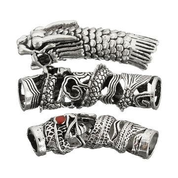 3 i 1 Fjäder Dirty Braid Hårförlängningsverktyg Armband Halsband Smycken Tillbehör Silver Micro Link Clasp