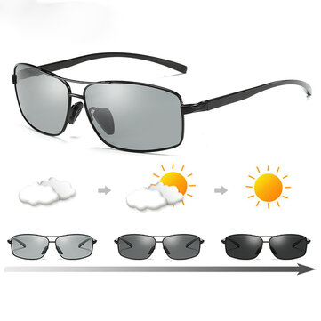 Top Quality Photochromic Sunglasses Men Women Polarized Chameleon Driving Sports Goggles Anti glare Retro Classic Square Sunglasses