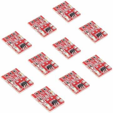 10 Cái 2.5-5.5V TTP223 Nút cảm ứng điện dung Nút khóa tự khóa cho Arduino