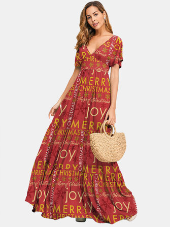 How can I buy Women V-Neck Letter Floral Print Backless Short Sleeve Bohemian Maxi Dresses with Bitcoin
