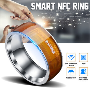 NFC Multifuncional Impermeable Inteligente Anillos Dedo Digital Smart Ring