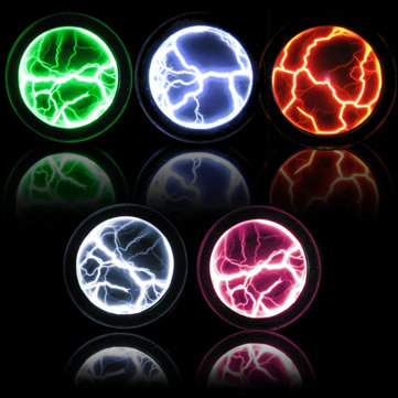Colorful Plasma Disk Fancy Mini Pocket Plasma Disk Sensor Light Plate Home Disco Party Decoration PVC&Glass Performance