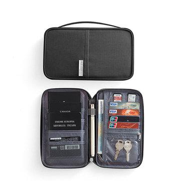 01f6030049e717 RFID Blocking Travel Card Storage Bag Passport Document Wallet Organizer  Holder