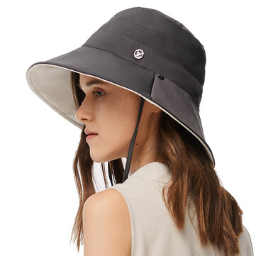 Buy BENEUNDER UPF50+ UV-proof Casual Solid Color Double-sided Bucket Hat  Summer Lady Fisherman Hat Outdoor Sun Caps with 7 on Gipsybee.com