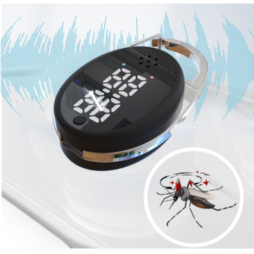 Intelligence Mosquito Repellent USB Charging Ultrasonic Insect Dispeller Portable Key Chain 5000 9000 Hz Sound Wave Frequency