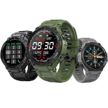 bluetooth Call BlitzWolf BW AT2C 400mAh Battery 24h Heart Rate Monitor Blood Pressure Oxygen Measure Wristband Custom Watch Faces Fun Small Game Sport Style Smart Watch