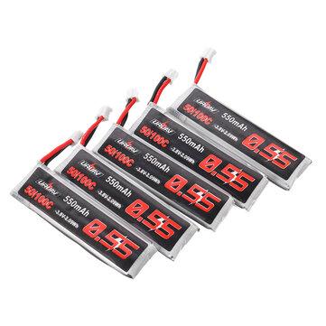 5Pcs URUAV 3.8V 550mAh 50/100C 1S HV 4.35V PH2.0 Lipo Battery for Emax Tinyhawk Kingkong/LDARC TINY