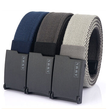 AWMN 200G 125M Metal Free Canvas Casual Belt Adjustable Length Mens Jeans Belt Breathable And Wear Resistant Coupon Code and price! - $10