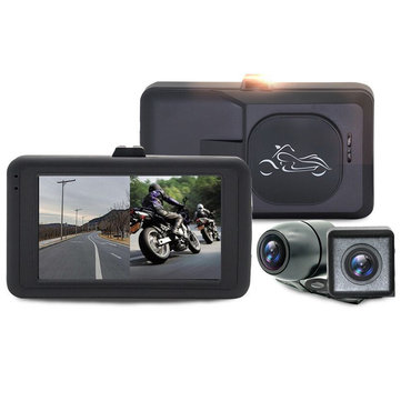3.0 inch MT21 720P HD Motorcycle DVR Riding Driving Recorder Front Rear Waterproof Double Lens Separation Locomotive