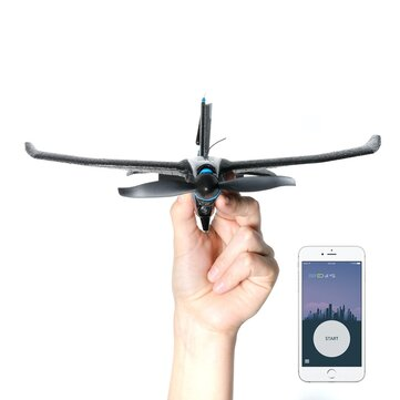 TOBYRICH SmartPlane Pro FPV Smartphone Controlled Mini RC Aircraft with 5.8Ghz 40CH 720*576 FPV Camera Indoor Bluetooth Plane Support iOS & Android with Joystick for Beginners