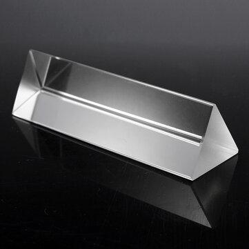 10cm Optical Glass Crystal Triple Triangular Prism Photography Physics Teaching Light Spectrum