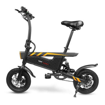 Ziyoujiguang T18 6Ah 6V 250W 16 Inches Folding Electric Bicycle 25km/h Top Speed 120kg Max. Bearing EU Plug