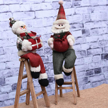 Christmas Decorations Santa Claus Climbing Ladder Ornament Decoration Holiday Gift