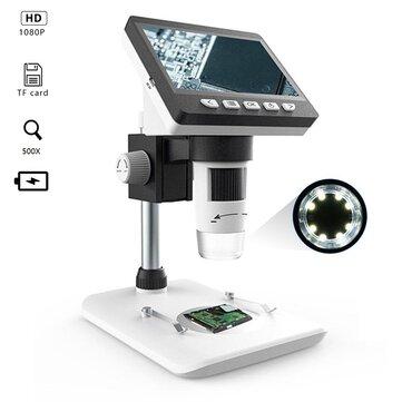 MUSTOOL 9350 931 4.3 इंच HD 1080P पोर्टेबल डेस्कटॉप एलसीडी डिजिटल माइक्रोस्कोप समर्थन 10 भाषाएँ 8 समायोज्य उच्च चमक