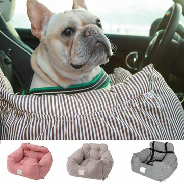 Universal Dog Car Seat Pet Booster Travel Safety Mat With Storage Pocket 55x50x30cm