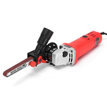 Drillpro Sander Sanding Belt Adapter Grinder Mini Belt Sander Attachment For 5/8 Inch Thread Spindle Angle Grinder