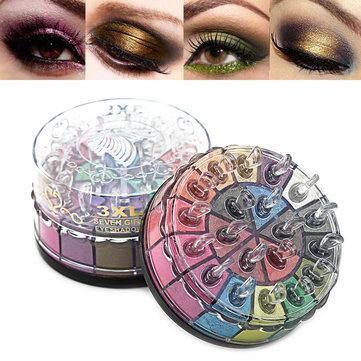 20 färger Shimmer Eyeshadow Palette Glitter Smoky Earth Färg Ögonskugga Ström Långvarig
