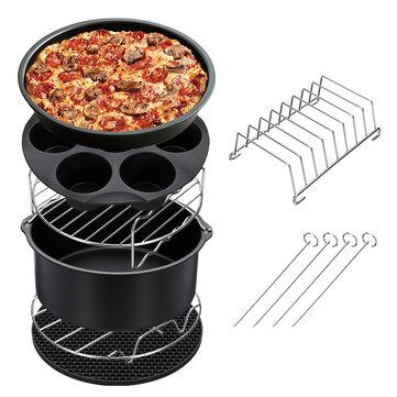 Air Fryer Accessories Tool Metal Stainless Steel Baking Basket Bread Holder Rack