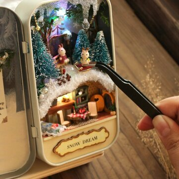 Cuteroom DIY Dollhouse Miniature LED Light Box Theatre Gift Decor Collection