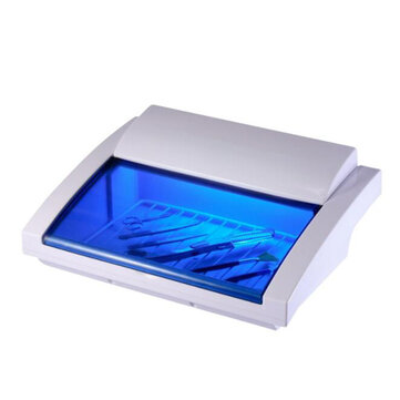 Buy Small UV Ozone Double Disinfection Cabinet Mini Beauty Salon Nail Tools Sterilization Sterilizer EU Plug with Litecoins with Free Shipping on Gipsybee.com