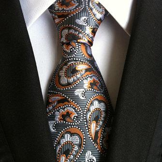 Men Business Retro Jacquard Lattice Tie Party Formal Retro Ties