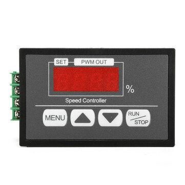 PWM DC 6-60V Motor Speed Regulator PLC Controller Adjustable Switch Control 20A