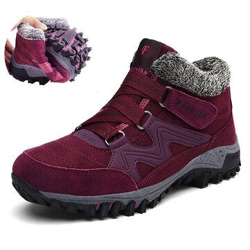 Stivaletti da Donna Antiscivolo con Velcro Casual Grande Taglia Stivali a Caviglia