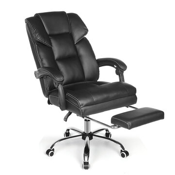 BlitzWolf® BW_OC1 Office Chair Ergonomic Design with 150°Reclining Wide Seat Retractable Footrest PU Material Lumbar Pillow