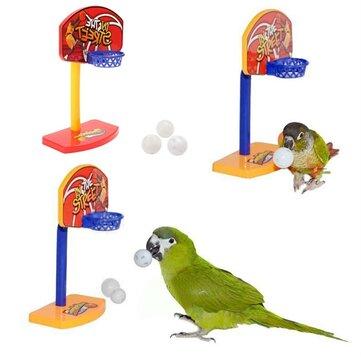 3 Cái Pet Chim Nhai Parakeet Chuông Balls Parrot Đồ chơi Birdie Basketball Hoop Prop