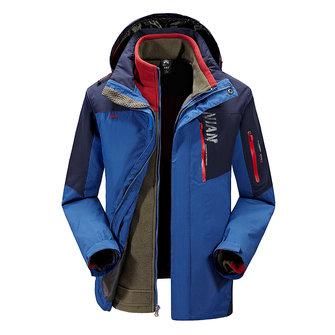 शीतकालीन आउटडोर विंडब्रेकर फ्लीस लाइनर जैकेट पुरुषों गर्म स्की स्पोर्ट्सवियर हटाने योग्य दो-ट