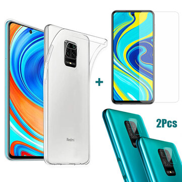 Bakeey Ultra-thin Transparent Soft TPU Protective Case + 9H Anti-explosion Tempered Glass Screen Protector + 2PCS Anti-scratch Phone Lens Protector for Xiaomi Redmi Note 9s / Redmi Note 9 Pro / Redmi Note 9 Pro Max for sale in Bitcoin, Litecoin, Ethereum, Bitcoin Cash with the best price and Free Shipping on Gipsybee.com