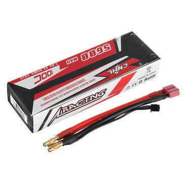 CNHL RACING SERIES 7.4V 5600mAh 100C 2S Lipo Battery T Plug for RC Car