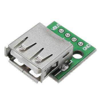 USB 2.0 Female Head Socket To DIP 2.54mm Pin 4P Adapter Board