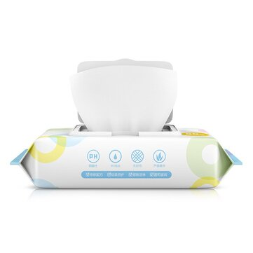 ZHIHU 1 Pack of 80 Pcs Wet Wipes Cleaning Wet Wipes Disposable Wipes for Cleaning and Sterilization in Office Home School Swab
