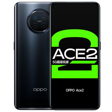 OPPO Ace2 5G CN Version 6.55 inch FHD+ HDR10+ 90Hz Refresh Rate 180Hz Touch Sensing NFC Android 10.0 65W SuperVOOC 12GB 256GB Snapdragon 865 Gaming Smartphone