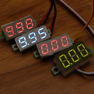 0.28 Inch Two-wire 2.5-30V Three-wire 0-100/500V Digital Display DC Voltmeter Adjustable Voltage Meter