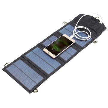 यूएसबी पोर्ट के साथ आईपीआरआई ™ 5 वी 7 डब्ल्यू पोर्टेबल सौर पैनल आउटडोर यात्रा आपातकालीन फोल्डबल च