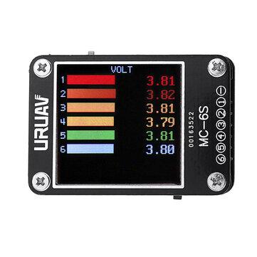URUAV MC-6S 1-6S Lipo Battery Voltage Checker Receiver Signal Tester