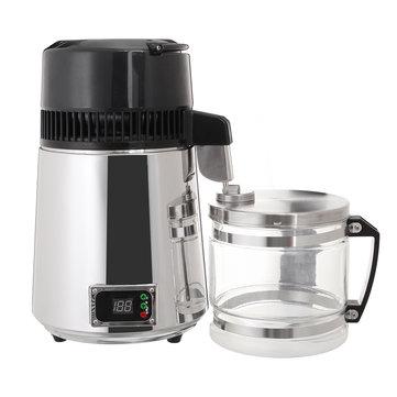750 W 4L Aço Inoxidável Pure Water Distiller 220 V Filtro Purificador LED Display Garrafa Destilada