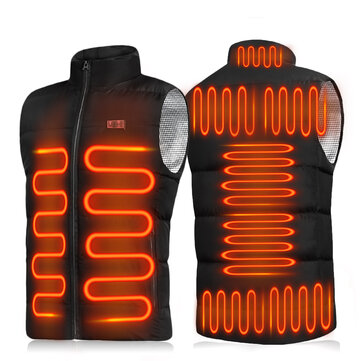 9_Heating Double_button Control Electric Jacket Man Woman Heated Winter Warm Hooded Coat Vest