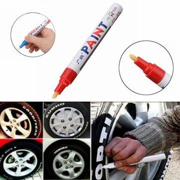 5Pcs लाल रंग टायर स्थायी पेंट पेन टायर धातु आउटडोर अंकन स्याही मार्कर ट्रेंडी